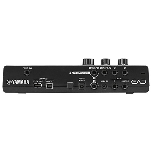 Yamaha EAD10 Electronic Acoustic Drum Module (Included Mic with Trigger Pickup & Power Supply) Bundle with Zorro Sounds Drum Polish Cloth, 2 x Instrument Cables & Headphones Best Drum Module Bundle by Yamaha (Image #2)