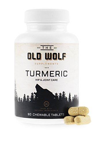 Daily Health 90 Canine Tablets (Turmeric Curcumin Joint Supplement for Dogs: Pain Relief & Anti Inflammatory Support with Glucosamine, Chondroitin Porcine, MSM, Hyaluronic Acid, Piperine & Turmeric Root Blend - 90 Chewable Tablets)