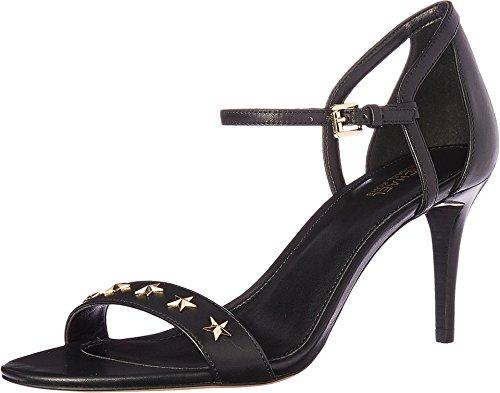 - Michael Michael Kors Women's Simone Mid Sandal Black Vachetta/Star Stud 10 M US