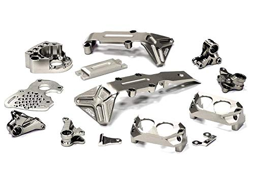 Integy RC Model Hop-ups T3547SILVER Billet Machined Stage 3 Conversion Set for 1/16 Traxxas E-Revo & Slash