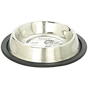 Maslow Stainless Steel Non-Skid/Non-Tip Pet Bowl with Ridges, 1-Cup