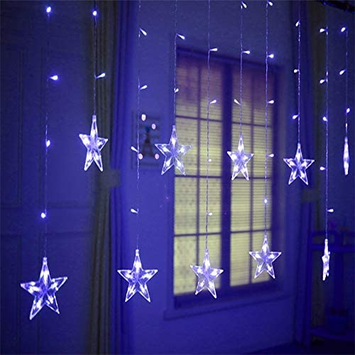 LED-Lichterketten,LED Fairytale Lights, LED Lichterketten, LED Wasserfall Eiszapfen Vorhang, Fairytale Fairy Lights, für Fairy Lights Dekoration, Fairy Light Curtain Plug In