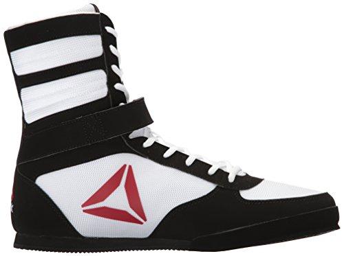 Reebok Mens Boxe Di Boot-buck Sneaker Delta-bianco / Nero