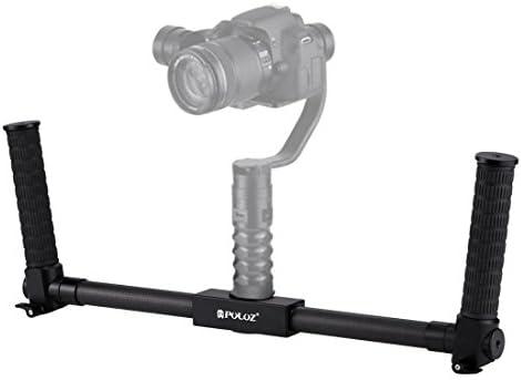 KANEED カメラスタビライザー 撮影安定化機材 手振れ防止 PULUZデュアルハンドグリップ炭素繊維金属製 耐久性