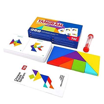 Amazon.com: TOI Tangram Set de madera clásica puzzles ...