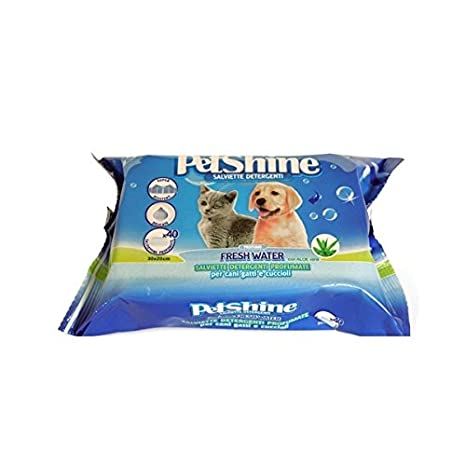 Porrini 11-04220 Toallitas Higiene Perro y Gato, Agua Fresca - 40 Unidades: Amazon.es: Productos para mascotas