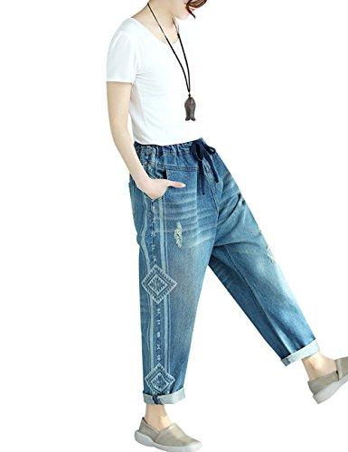 Mezclilla Primavera Cintura Mujer Youlee 1 Verano Harén Elástica Pantalones Estilo BqaYwEtxw