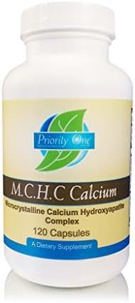 Priority One Vitamins M.C.H.C. Calcium 120 Capsules - Microcrystalline Calcium Hydroxyapatite Comlex - Promoting Healthy Bone Formation and Density.*