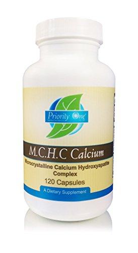 Priority One Vitamins M.C.H.C. Calcium 120 Capsules - Microcrystalline Calcium Hydroxyapatite Comlex - Promoting Healthy Bone Formation and - Microcrystalline Calcium