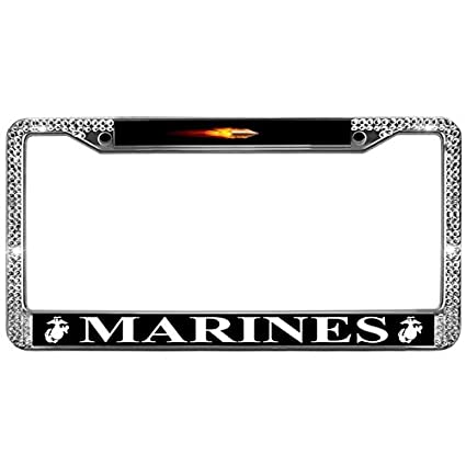 Amazon.com: GND Auto License Plate Frame MARINES Auto License Plate ...