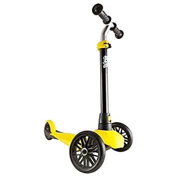 OXELO B1 – 3 Rubber Wheels Scooter for Kids up to 44 lb Foldable Kick Scooter with Adjustable Height Handlebar. Lightweight 3.30 lb