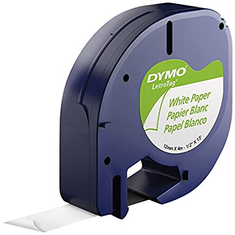DYMO LetraTag Label Maker Tape, Multi-Pack, 4 Cassettes - Dymo Letratag 10697 Paper Tape