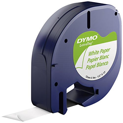 DYMO 10697 Self-Adhesive Paper Tape for LetraTag Label Makers, White (2 Pack of 2 Piece Each) (Dymo Letratag Paper Label)