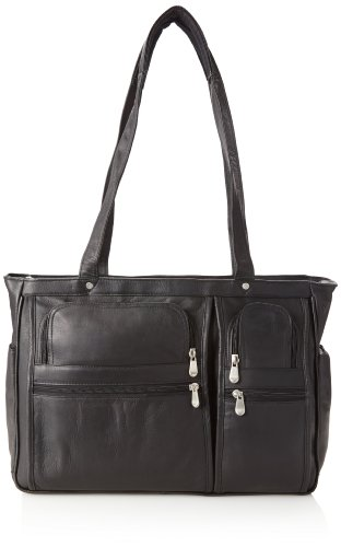 David King Letter - David King & Co. Women's Multi Pocket Briefcase Plus, Black, One Size