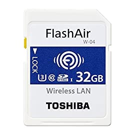 Toshiba FlashAir W-04 32 GB SDHC Class 10 Memory Card 108 Up to Seven Device At One Time: The FlashAir SD card acts as an access point allowing up to seven devices such as tablets, smartphones, and laptops to access the data stored within the card simultaneously. Simple Set Up: The FlashAir SD card follows the SD Memory card standard and is easy to set-up. Simply insert it into your digital camera or camcorder and you're ready to shoot and share. Stay Online: What's more, Internet Pass-Thru Mode allows you to access the web while still connected to the FlashAir SD card. So it's easy to share your latest shots with friends.