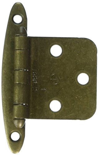 Amerock BP7678BB Non Self-Closing, Face Mount Hinge with Variable Overlay - Burnished Brass