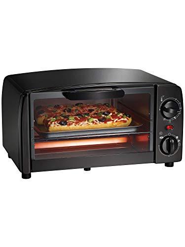 Proctor Silex 31118 Toaster Oven|Broiler 4 Slice Large Black, 4 SERVING,