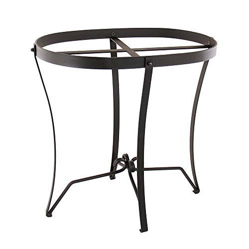 Achla Designs Wrought Iron Plant and Tub Stand, Oval