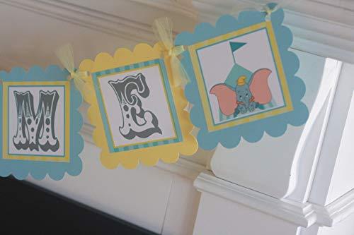 Dumbo Elephant Baby Shower Yellow Blue Elephant