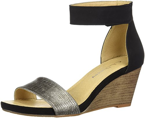 CL Black Zone by Laundry Sandal Pewter Women's Wedge Hot Chinese r4SxqPnrw