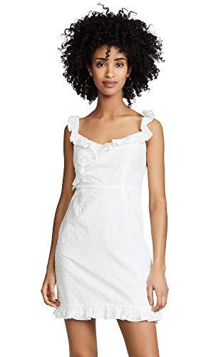 BB Dakota womens say no More Cotton Jacquard dot Dress, ivory 2