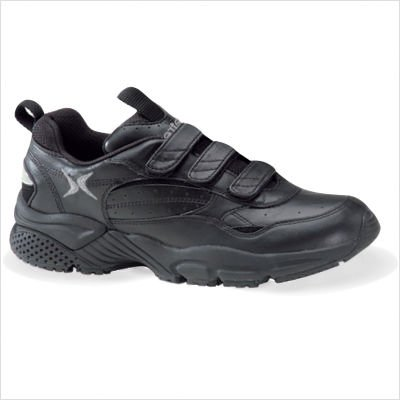 Aetrex Lenex Triple Velcro Walker Black - Men's Wide size - Strap Walker Lenex Triple
