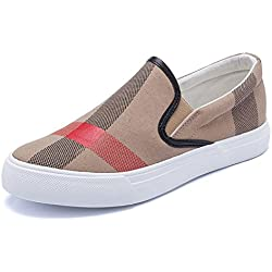Marck Sch Comfortable women casual shoes summer autumn fashion brand breathable canvas shoes lazy slip-on women shoes women flat espadrilles Yellow 9