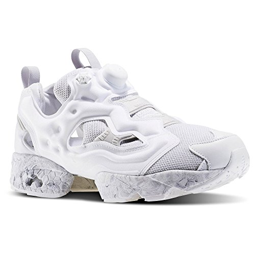 Shoes Grey White Reebok Hexalite ACHM Mens Fury Solid Low Instapump Top Light Athletic qq8wa1R