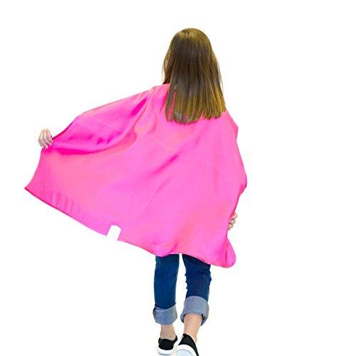 Magenta Polyester Satin Superhero Cape - Kids ()