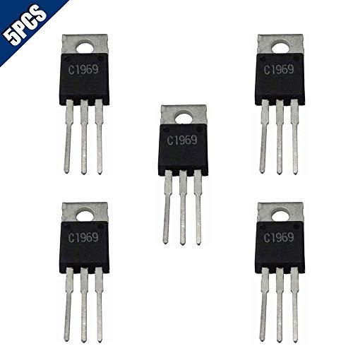 Comidox 5PCS 2SC1969 C1969 TO-220 RF Power Transistor EPITAX IC Chip ()