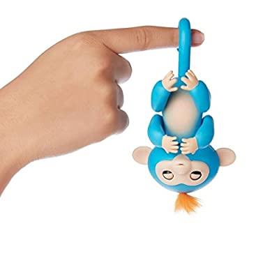 Fingerlings - Interactive Baby Monkey for Kid's Toy - Boris (Blue with Orange Hair) from Shenzhen Egotronics Co., Ltd