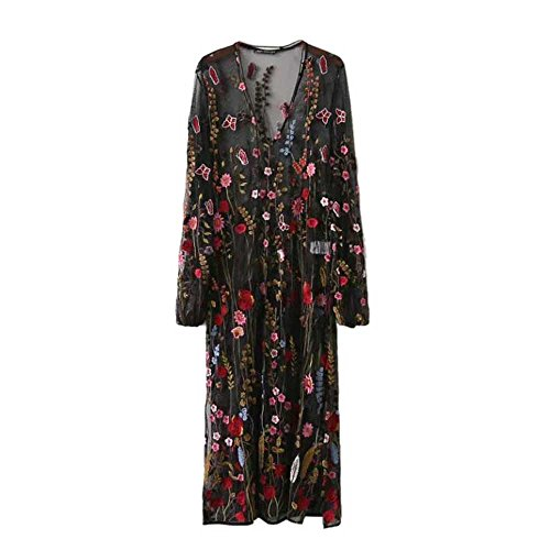long black floral dress - 4
