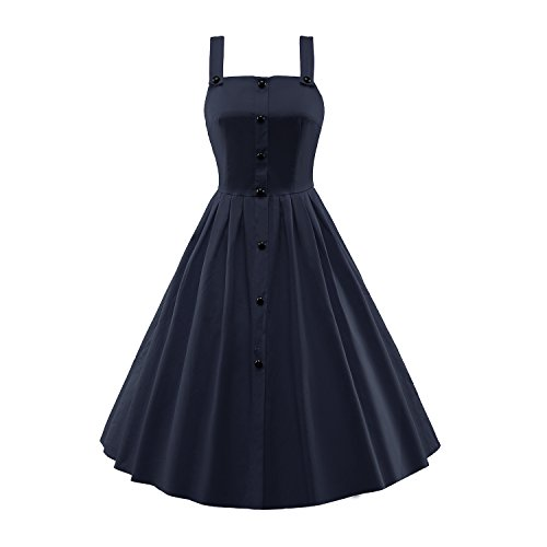 LUOUSE-Womens-Sleeveless-Vintage-Cocktail-Party-Evening-Swing-Dress
