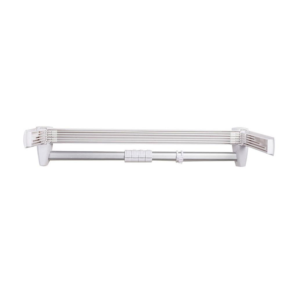 KHSKX Aluminum folding retractable Towel rack, 643312cm bathroom multi-function rack delicate