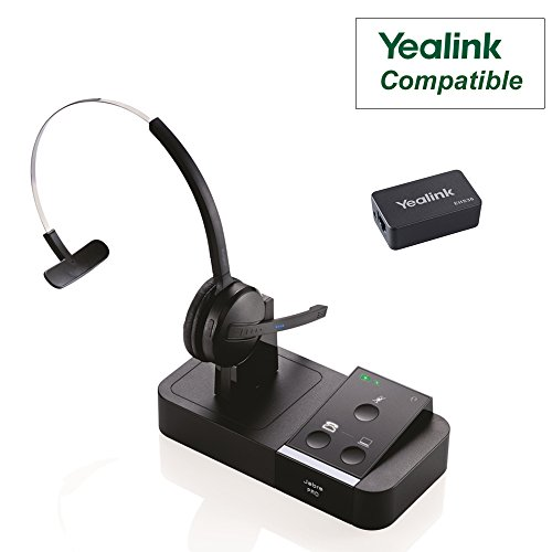 Yealink Phone Compatible Jabra PRO 9450 Bundle with EHS Remote Answering Adapter | Dual Usage - Desk Phone/PC (GN9450-YEA) by GN/Jabra Audio