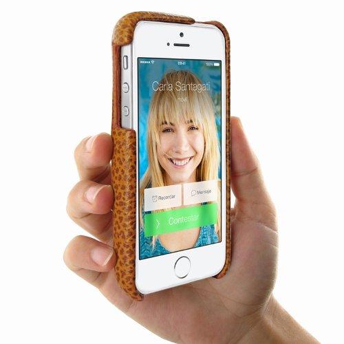 Piel Frama U603KAC Grip iForte Case für Apple iPhone 5/5S tan