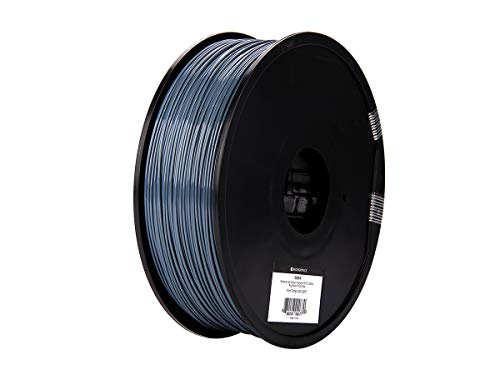 Monoprice Premium 3D Printer Filament PETG - Solid Gray - 1kg Spool, 1.75mm Thick | FDA Food Grade | Ideal for Utensils & Dishware | for All PETG Compatible Printers