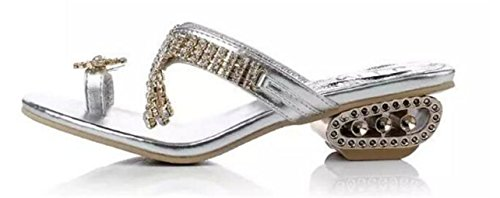 Girllike Womens  Toe Ring  Summer Beach Party Get Together School Carnival Casual Evening Slipper Sandals  8 5 B M  Us Women Cn39  Silver