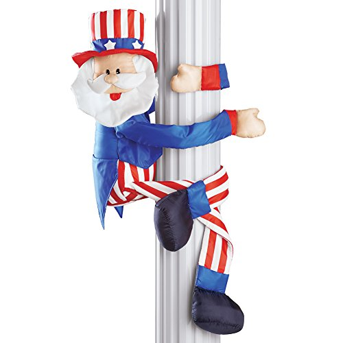 (Patriotic Uncle Sam 4th of July Outdoor Decoration with Posable Wired Arms and Legs)