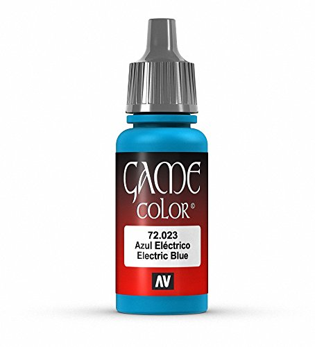 Vallejo Game Color Electric Blue Paint, 17ml