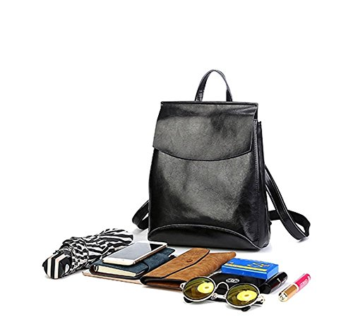 Bag Bags 3 Backpack Girl Knapsack Shoulder for Brown Lady Vintage Top Leather 1 handle Satchel Women in Schoolbag Iq6Iw7rv