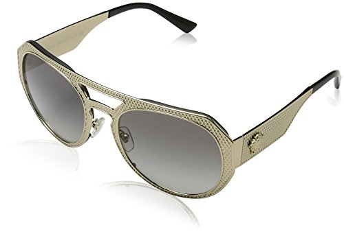 Versace Womens Metal Mesh Collection Sunglasses (VE2175) Gold/Grey Metal - Non-Polarized - - Women Versace Shades