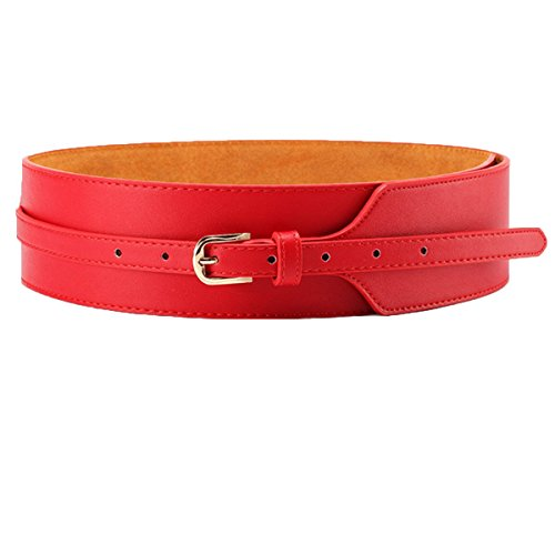 Belt Horsebit - Cityelf Women's Genuine Leather Fashion Belt With Alloy Buckle PDW0071 red