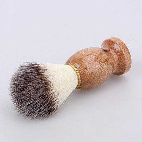 Razor Brush, Men Shaving Bear Brush Best Badger Hair Shave Wood Handle Razor Barber Too