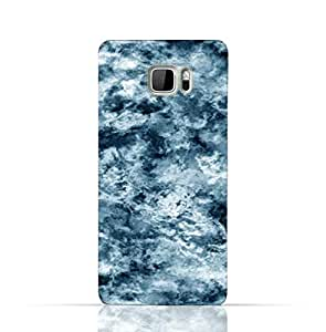 HTC Ultra TPU Silicone Case With Cloudy Marble Texture Design.