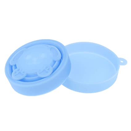 Baoblaze Portavasos de Silicona Plegable para Esterilizar Copas Menstruales - Azul