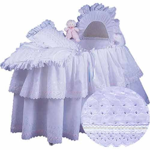 aBaby Little Angel Bassinet Skirt, White, Large ()