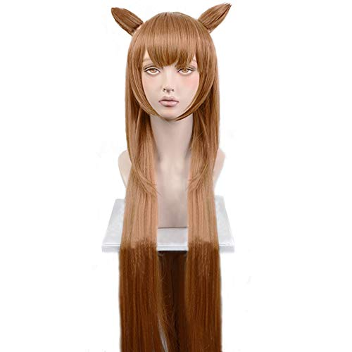 magic acgn Brown Straight Cosplay Wig Long Halloween Wig