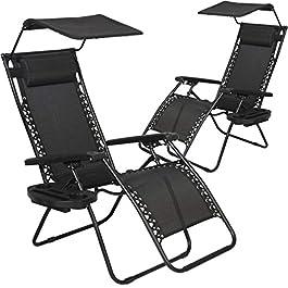 BestMassage Zero Gravity Chair Patio Chairs Lounge...
