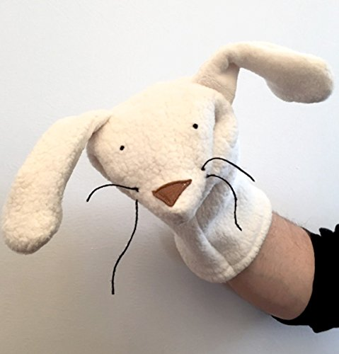 Organic Bunny Rabbit Hand Puppet Natural Kids Toy